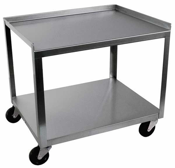MC221 Stainless Steel 2 Shelf Utility Cart
