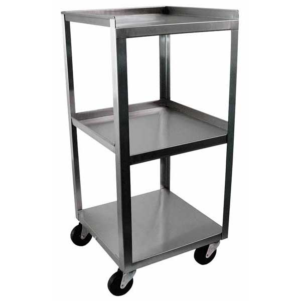 MC314 Stainless Steel 3 Shelf Utility Cart