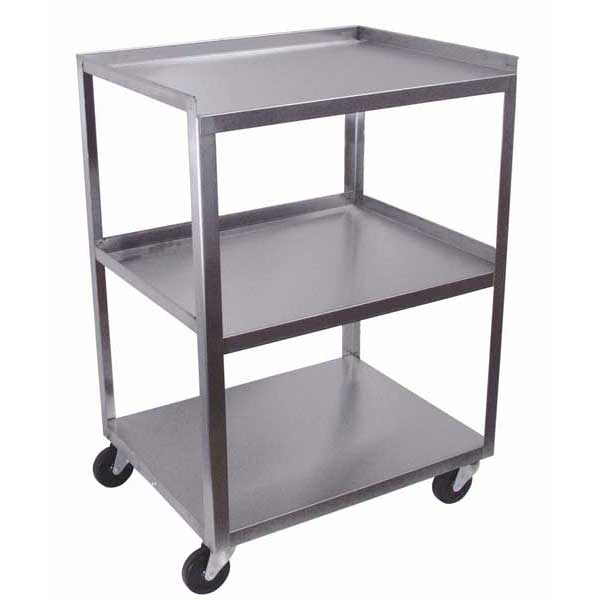 MC321 Stainless Steel 3 Shelf Utility Cart