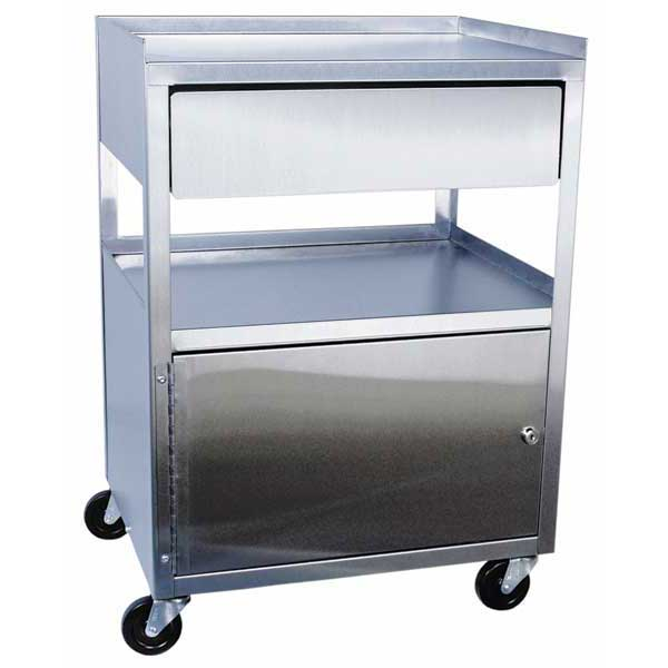 MCC21D Stainless Steel Cabinet Cart with Drawer