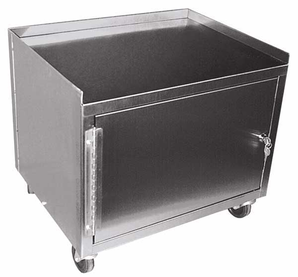 MCC221 Stainless Steel 2 Shelf Utility Cart