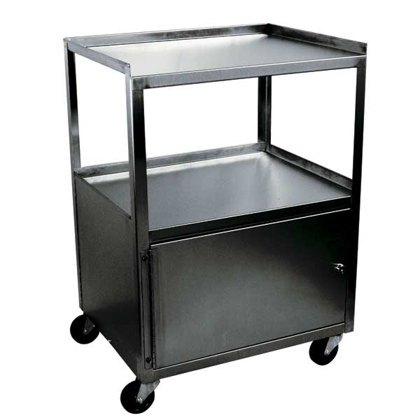 MCC321 Stainless Steel Single Cabinet Cart w/keyed lock.