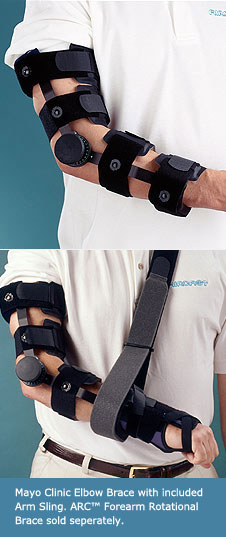 Aircast® Mayo Clinic Elbow Brace with Arm Sling (left arm)