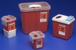 1522SA Phlebotomy Sharps Container, 2.2 Quart, Red