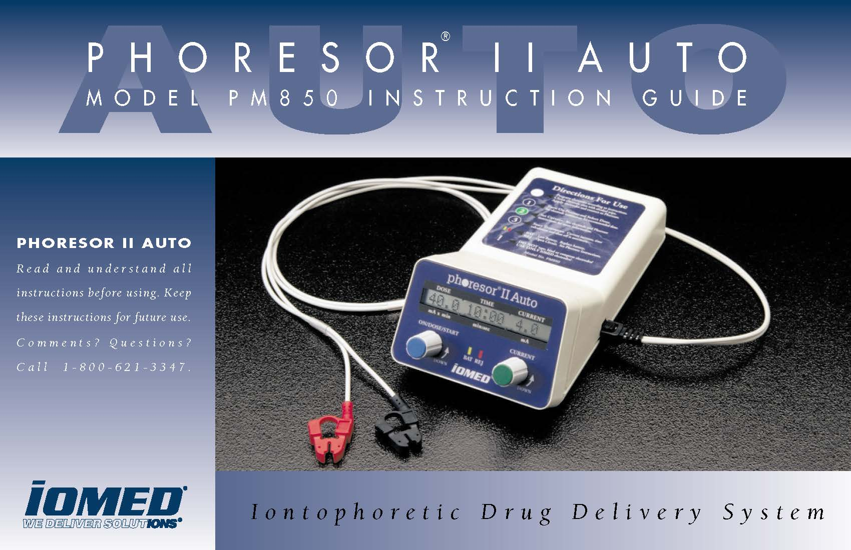 Phoresor II Auto PM850 Instruction Guide