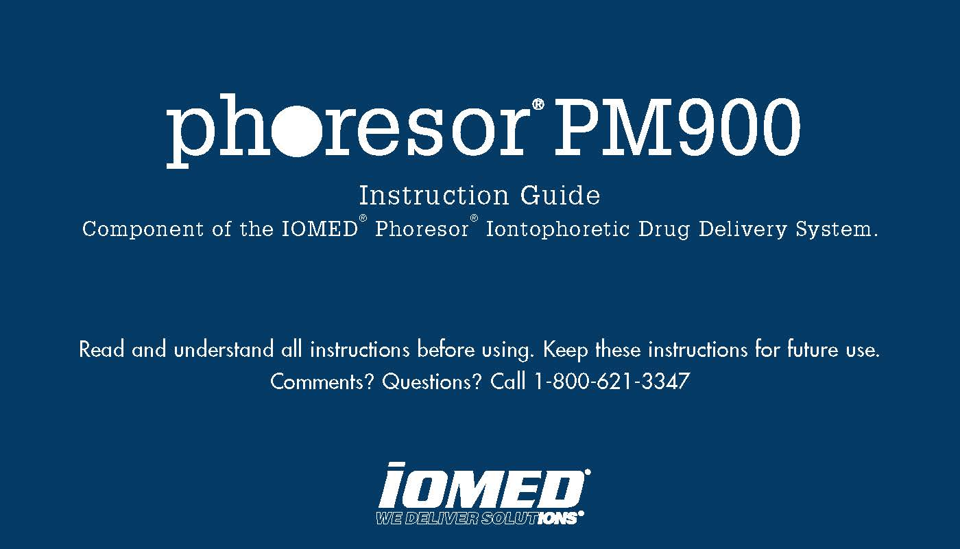 Phoresor PM900 Instruction Guide