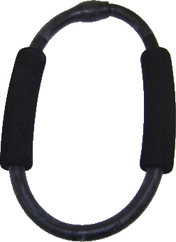 Balego™ Exercise Ring with Foam Handles, ultra-heavy (black)