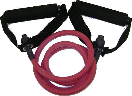 Balego™ Resistance Tubing w/Deluxe Foam Handles, Heavy (Red)