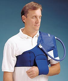 Aircast® Shoulder Cryo/Cuff™ with Extra Long Strap and Cooler