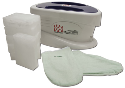 WaxWel Paraffin Bath with 6lb. Paraffin, Liners, Mitt and Bottie