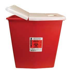Red Sharps Containers