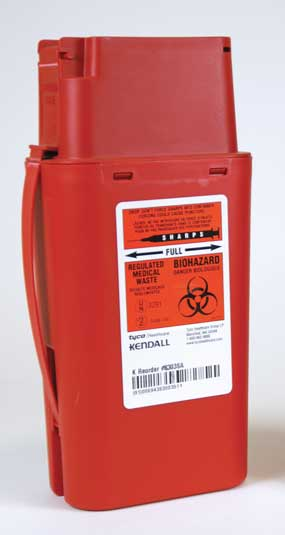 Portable Red Sharps Containers