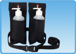 Oil and Lotion Holster Double with Bottles
