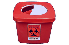 Red Sharps Container: 1/2 Gallon