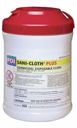 Sani-Cloth® Plus Low-Alcohol Surface Disinfectant Wipes (160)