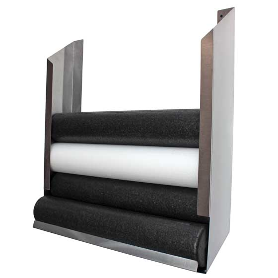 Foam Roll Storage Wall Unit, Stainless steel