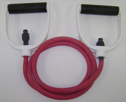 Balego™ Tubing w/Premium Molded Foam Handles, Heavy (Red)